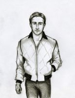 Gosling in Drive by RobtheDoodler
