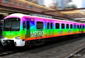 Gay Pride Metro Train by Fighter4luv