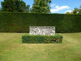 Roman coffin flower bed by photodash