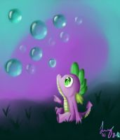 Spike's bubbles by PinkieCupcake