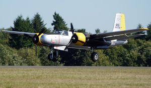 Douglas A-26 Invader landing by shelbs2