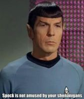 Spock is not amused by Koriin-hime