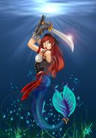 Pirate Mermaid by TallmanCreations