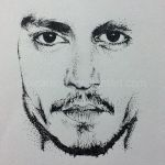 Johnny Depp Dot Art by dipizamora