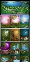 Magic Dream new backgrounds by moonchild-ljilja