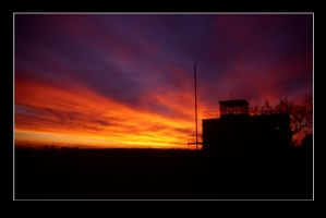 CONTROL TOWER SUNSET by ScarredWolfphoto