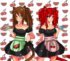 [ Contest entry ] Tsundere maids! by KitsuneRenaChan