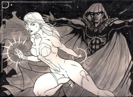 Cloak and dagger inked by AnielaAbair