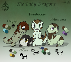 Dragontry - The Baby Dragons by DragonwolfRooke