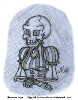 Sketch - Skeleton Lady by AK-Is-Harmless