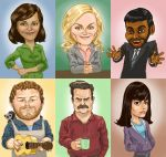 Parks and Recreation Cast by normandapito