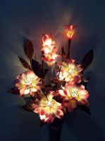 Pink angel flowers. Artificial Light Bouquet by smallparadise