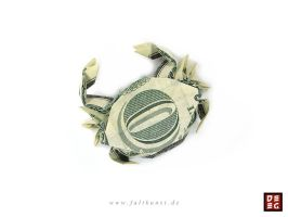 Dollar Bill Crab by Origamikuenstler