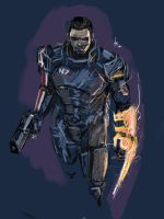 Commander Shepard by Archonyto