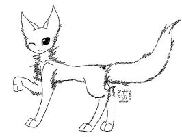 warrior cat lineart by ashineko-chan