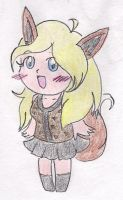 .:Chibi Alion the Eevee Girl:. by CreamPuff-Pikachu