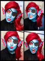 Undyne - Undertale Cosplay by Mitternachto