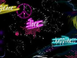peace love happiness wallpaper by zinnet556