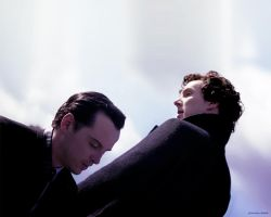 Sherlock and Moriarty by poisontao