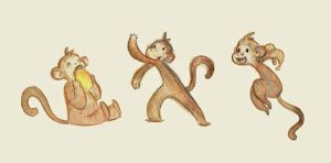 Monkeys by marlenakate