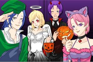 DBZ: Halloween 2014 by Knuxamyloverfan