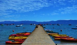 Kayaks at the Pier by Marilyn958