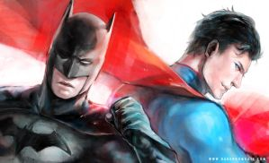 Superman Batman by Haining-art