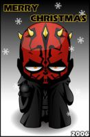 Xmas Darth Maul by Lord-Yoda