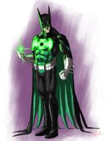 Green Lantern Batman by ArtistAbe