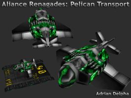 Alliance Renegades: Pelican Transport by DelphaDesign
