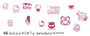 Hello Kitty Brushes by sarawu