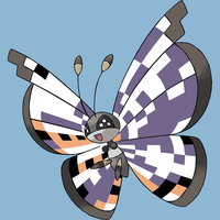 Glitches and Bugs: Missingno. Pattern Vivillon by Eskay64