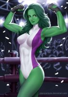 She Hulk Win by alanscampos