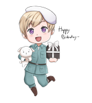 [APH] Finland Chibi - Happy Birthday for Zeta by Anni-the-cat