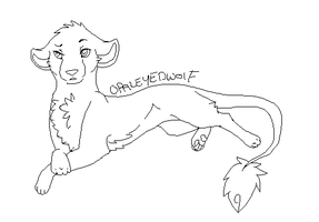 Lying lioness .:Lineart:. by ProtoSykeLegacy