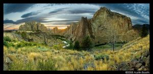 Smith Rock Panorama by austinboothphoto