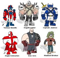 SuperDude Character Line-Up 2 by AngelCrusher