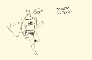 Batman Jogging in Place (Because I can) by Capt-Exce77ence
