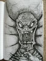 I think it's an alien by TheFlyingTree