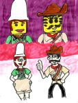 Johnny and Pippin: MiniFigures and Real by SonicClone