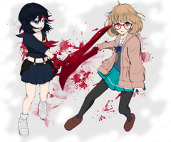 Kill la Kill x Kyoukai no Kanata by ghostrockk