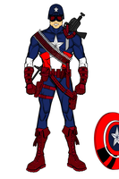 Captain America Redesign w/out sheild by 127thlegion