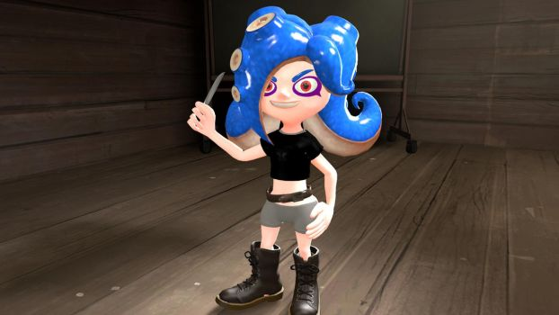 Chloe the octoling by alex12357