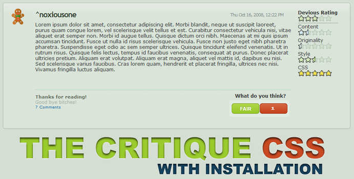 devious Critque CSS by noxiousone