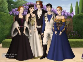 Dilynia, Asine, Andrew, Cobalt, Ariana by ToAtoneArt