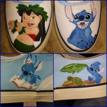 Lilo and Stitch Shoes by phantomsgirl3