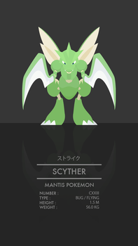 Scyther by WEAPONIX