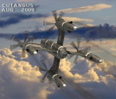 VTOL REAR VIEW by CUTANGUS