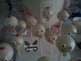 Baby Head Cake Pops image 1 by TsuKaza90