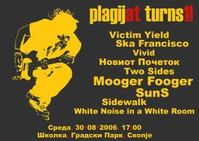 plagij.at turns1 flyer by FlavrSavr